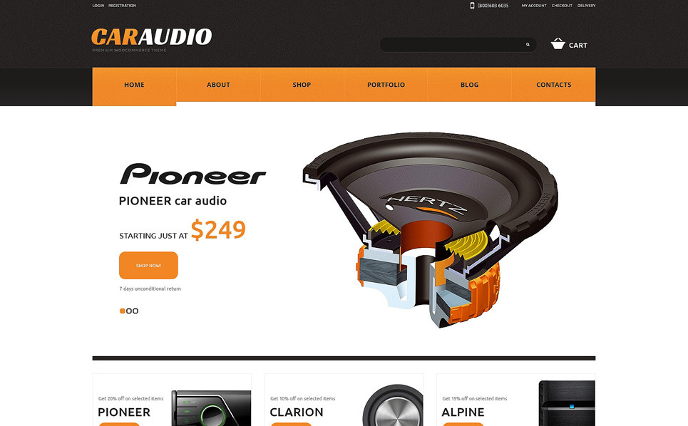 Responsives WooCommerce Theme für Car Audio Produkte  New Screenshots BIG