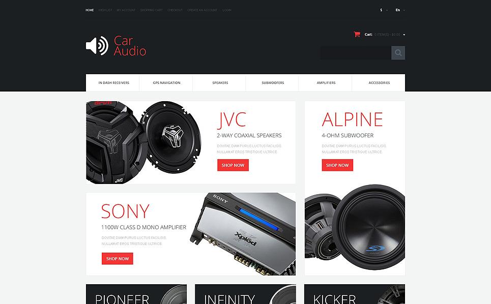Responsive OpenCart Vorlage für Car Audio Produkte  New Screenshots BIG