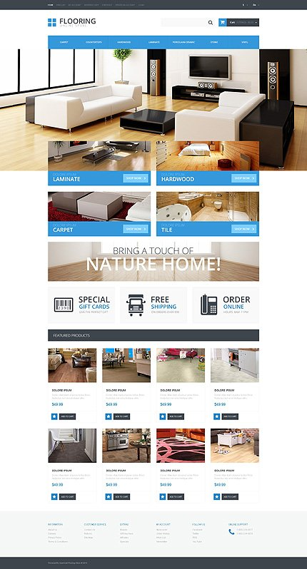ADOBE Photoshop Template 48074 Home Page Screenshot