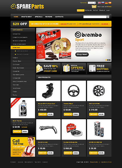 osCommerce Template 48077 Main Page Screenshot