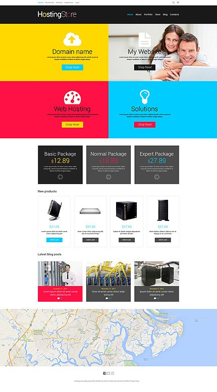 ADOBE Photoshop Template 48079 Home Page Screenshot