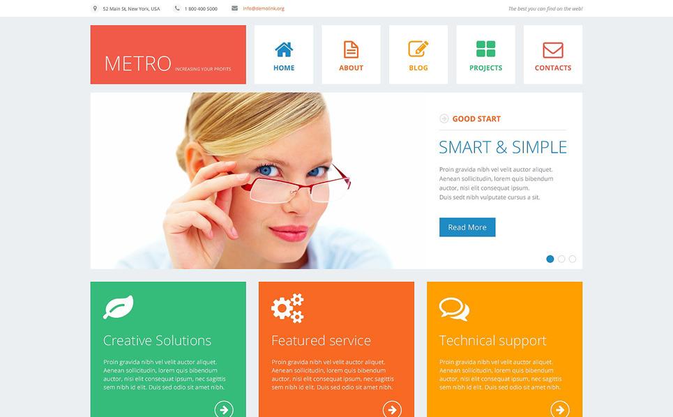 Responsive Joomla Vorlage für Finanzberater  New Screenshots BIG