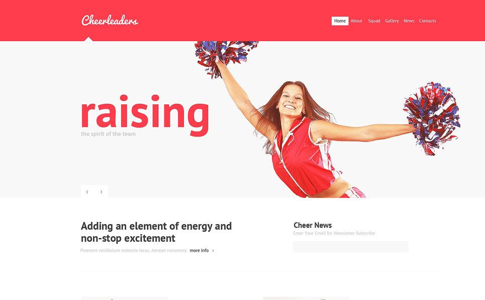 Responsive Joomla Template over Cheerleading  New Screenshots BIG