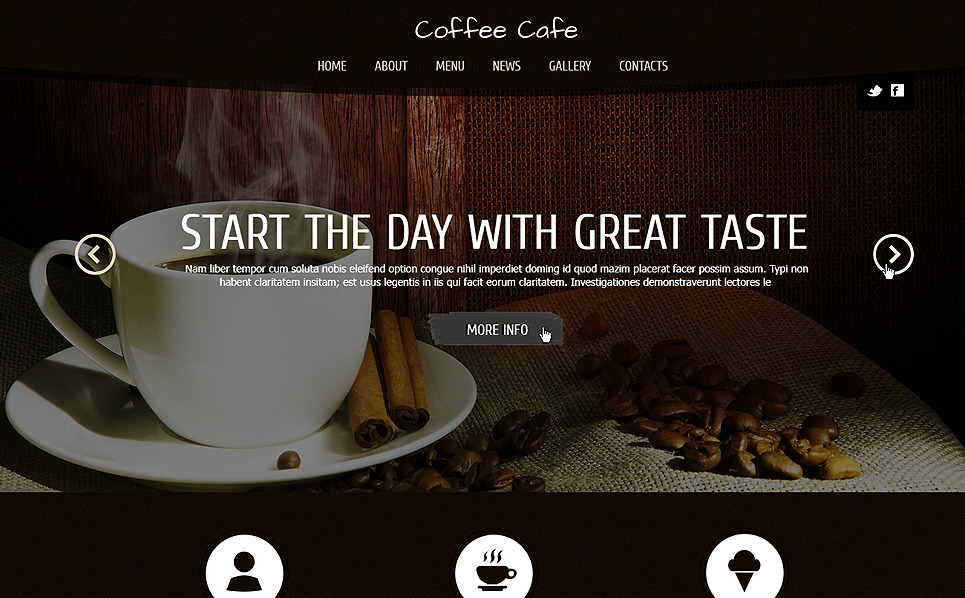 Responsive Joomla Template over Koffiebar  New Screenshots BIG