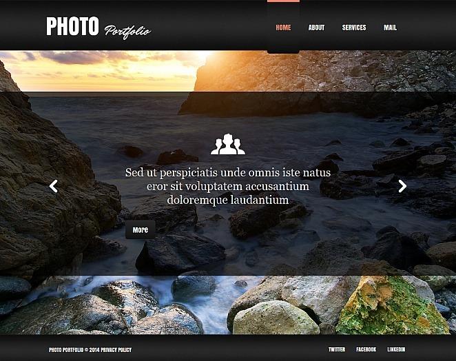Szablon Galerii Zdjęć #48087 na temat: portfolio fotograficzne New Screenshots BIG