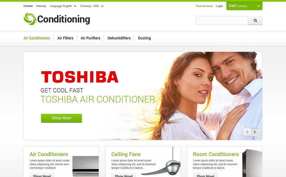 Responsive PrestaShop Thema over Airconditioning  New Screenshots BIG