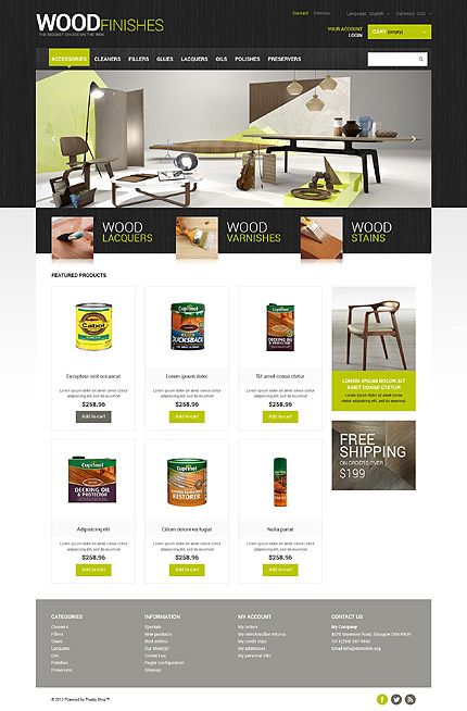 ADOBE Photoshop Template 48091 Home Page Screenshot