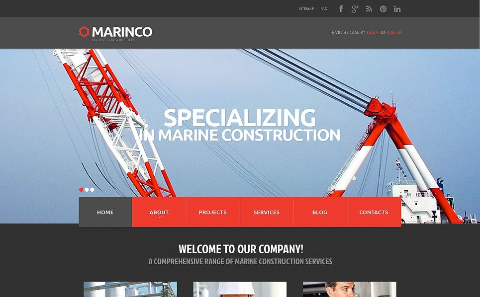 Template Web Flexível para Sites de Industrial №48095 New Screenshots BIG