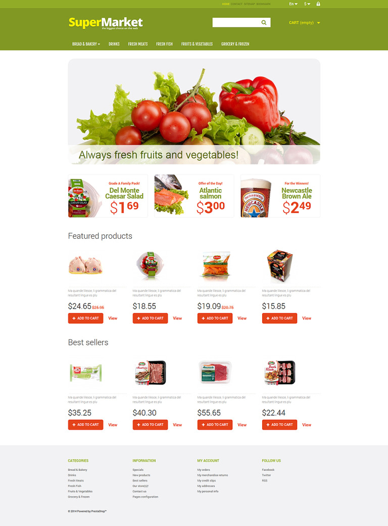 A Bit of Everything PrestaShop Theme New Screenshots BIG