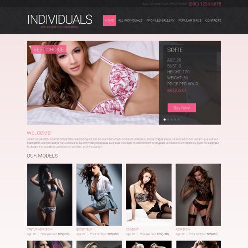 Individuals - Responsive Website Template