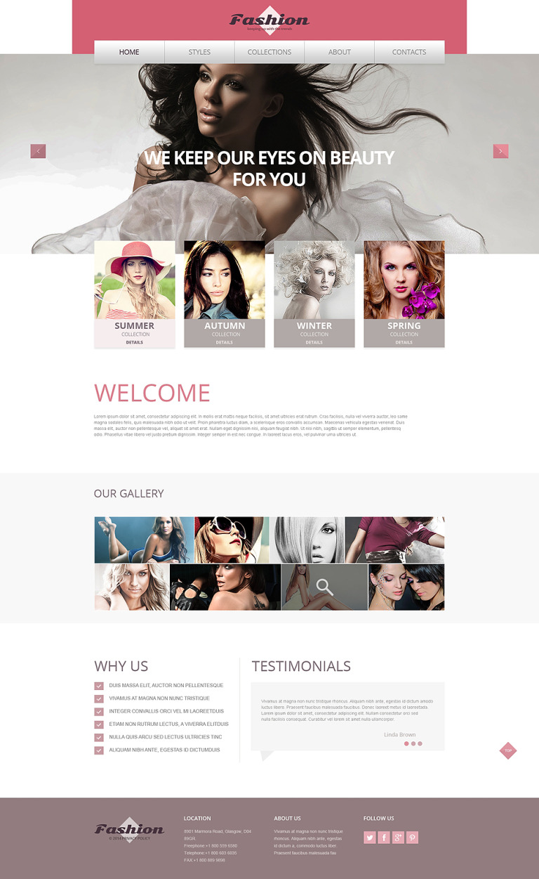 Apparel Responsive Website Template New Screenshots BIG