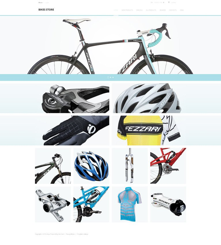 Bikes Store ZenCart Template New Screenshots BIG