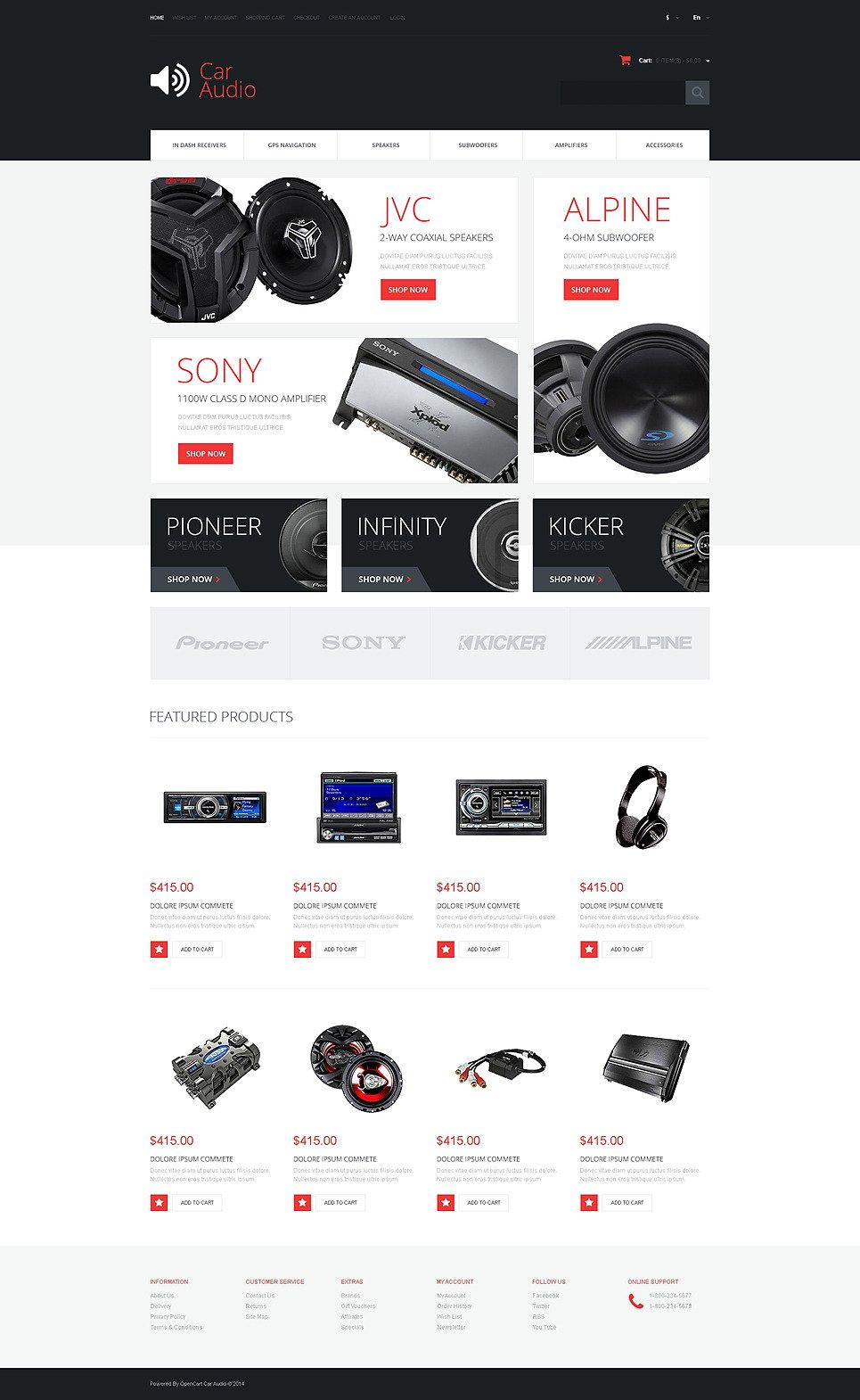 Car Audio Responsive OpenCart Template New Screenshots BIG