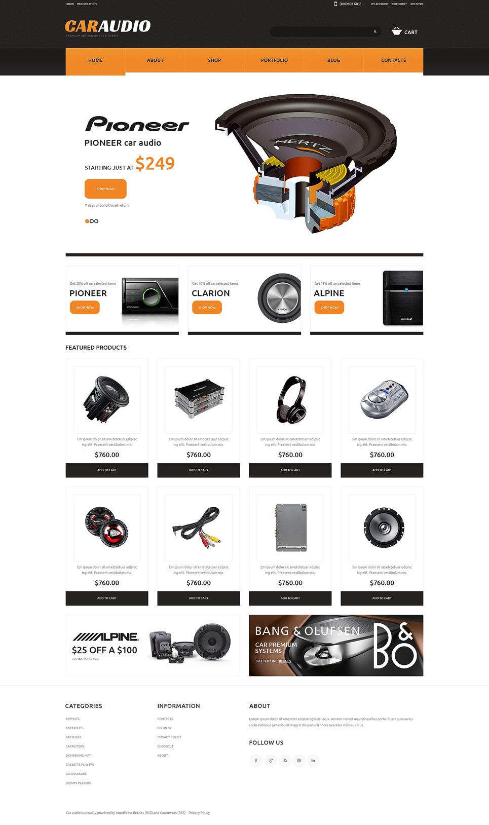 Car Audio Responsive WooCommerce Theme New Screenshots BIG