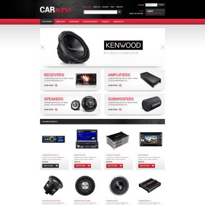 Car Audio Responsive VirtueMart Template 62375