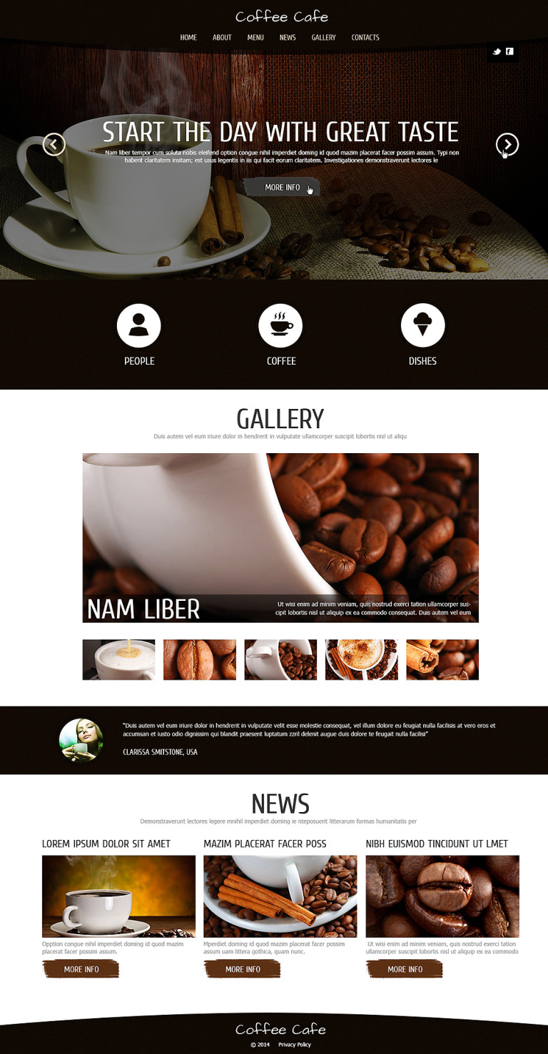 Coffee for Freshness Joomla Template New Screenshots BIG