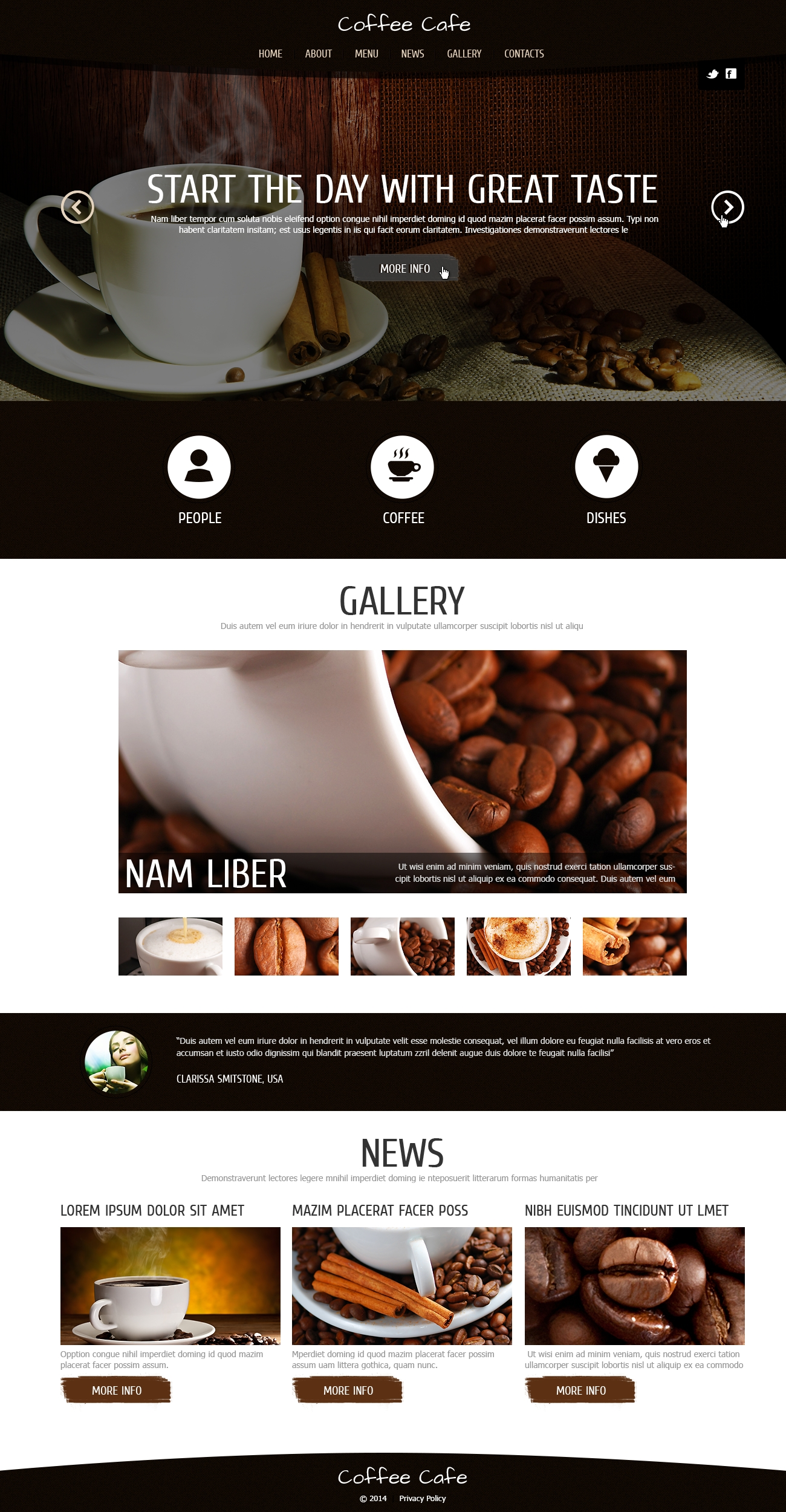 """Coffee for Freshness"" Responsive Joomla Template №48085"