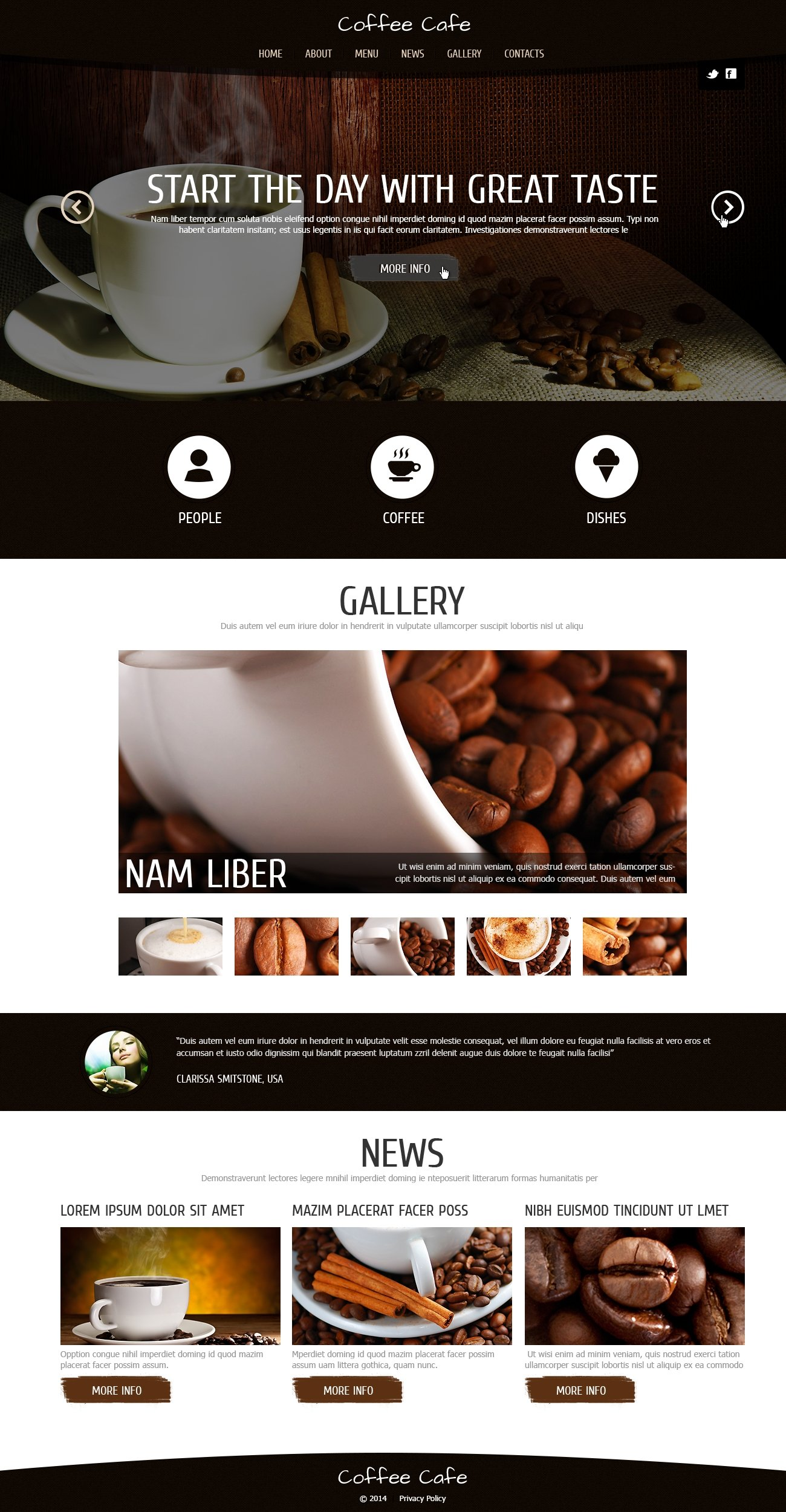 Coffee for Freshness Template Joomla №48085