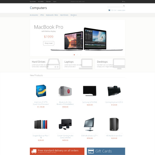 Computers  - Magento Hardware Store Template