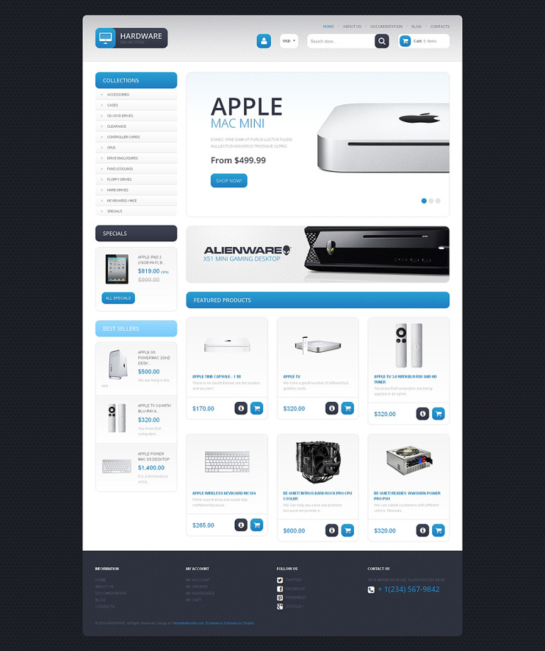 Computer Store Responsive Shopify Theme New Screenshots BIG