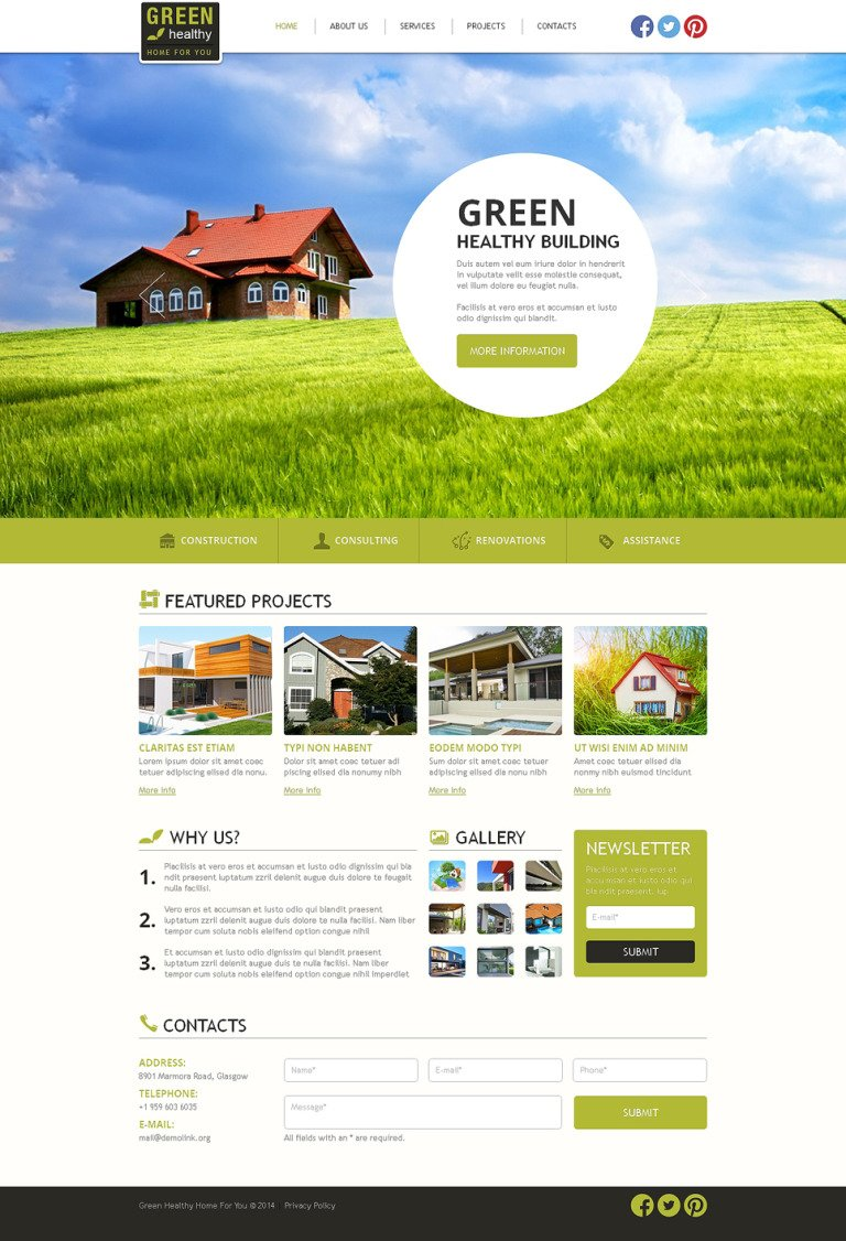 Construction Company Responsive Website Template New Screenshots BIG