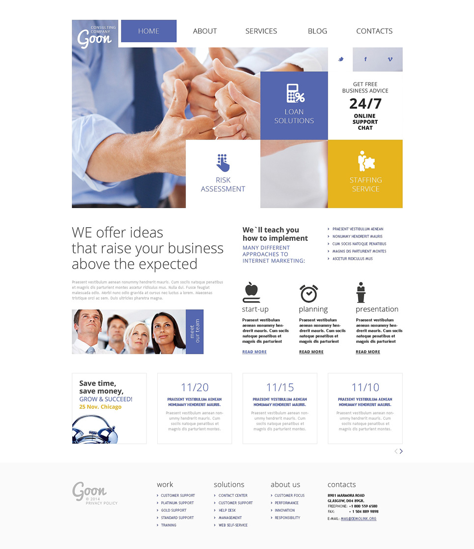 Consulting Agency Joomla Template #48081