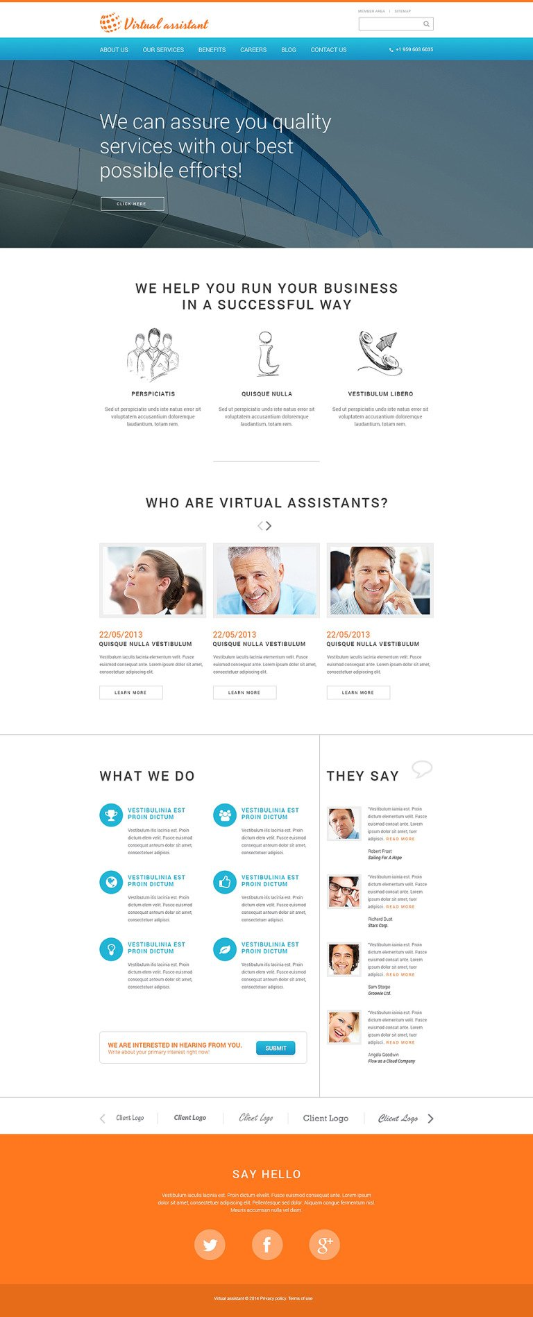 Consulting Responsive Website Template New Screenshots BIG