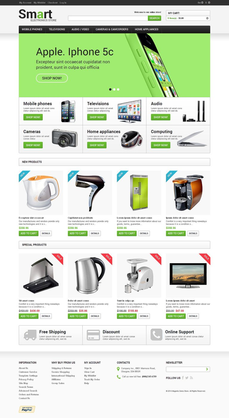 Electronics for Freedom Magento Theme New Screenshots BIG