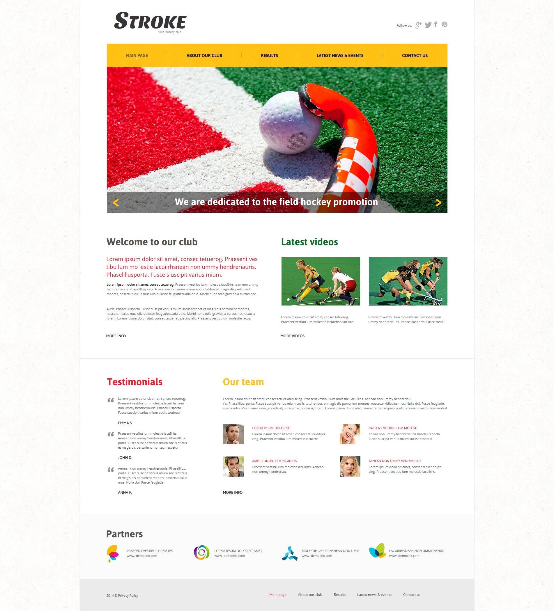 Field Hockey Moto CMS HTML Template