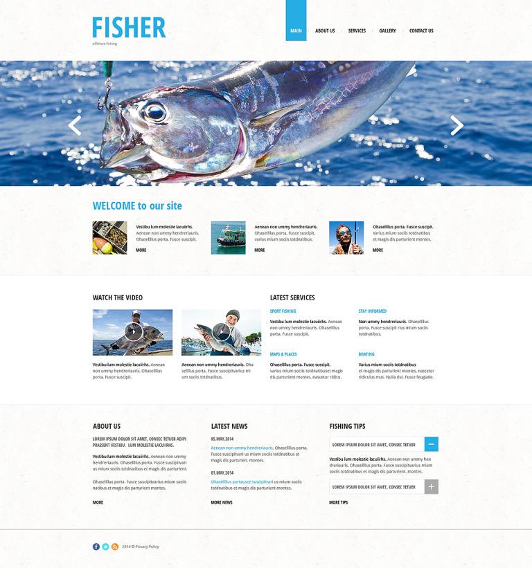 Fishing Responsive Website Template New Screenshots BIG