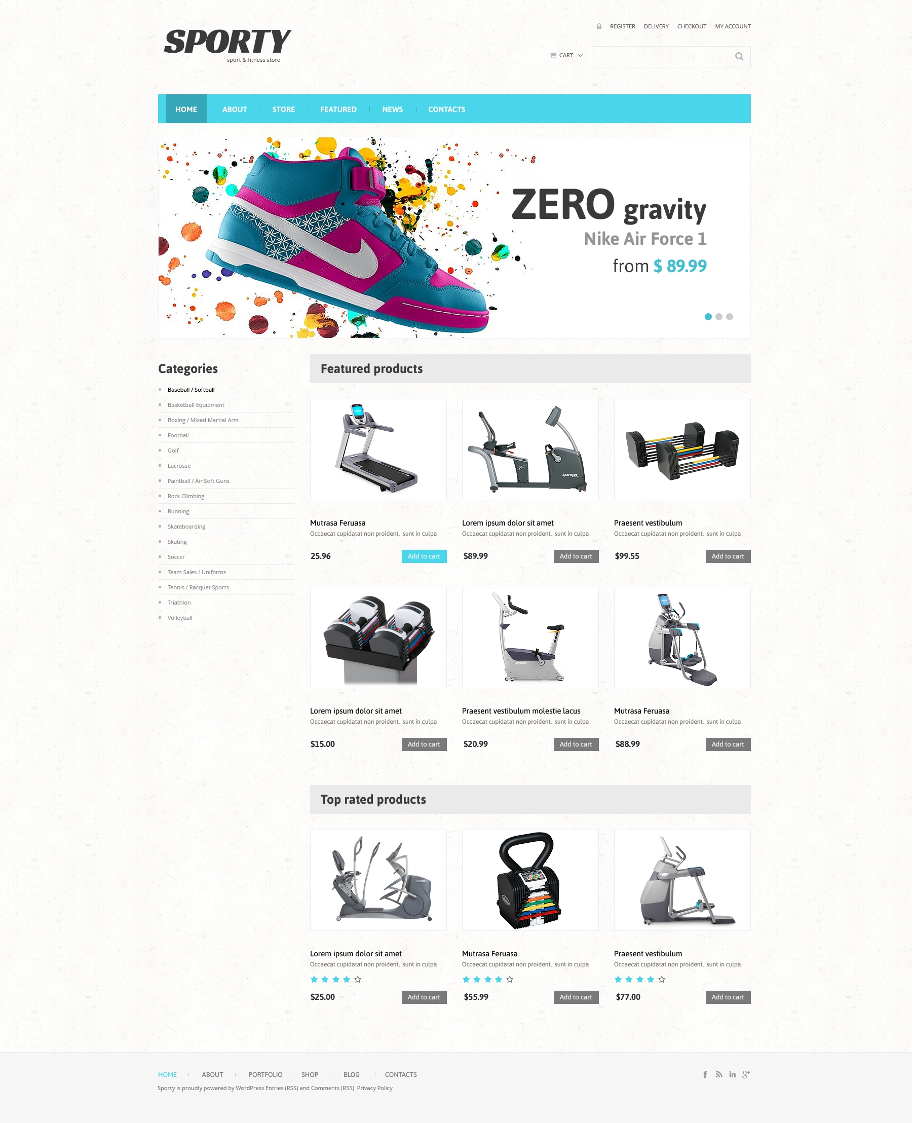 Fitness Responsive WooCommerce Theme - screenshot