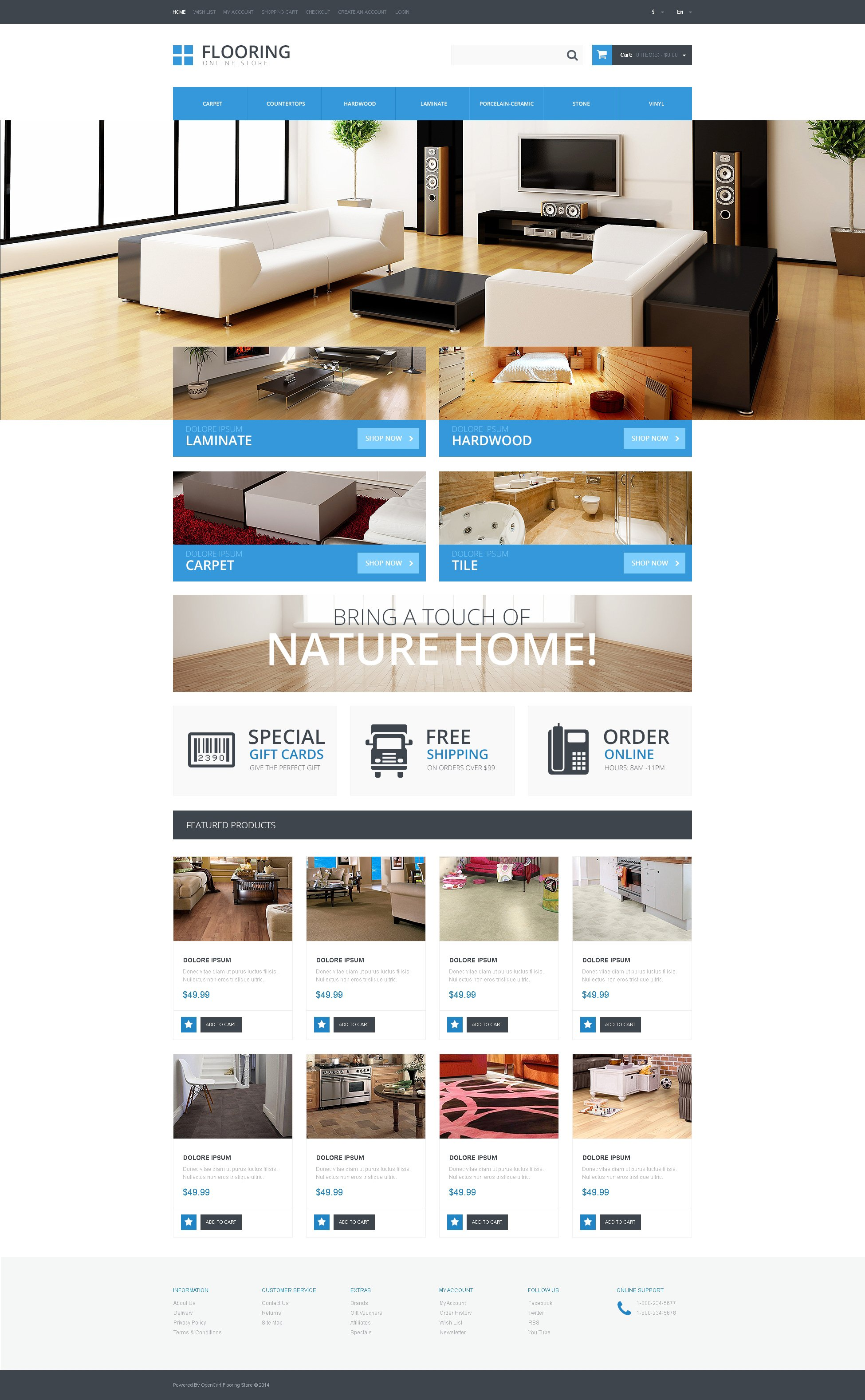 Flooring Responsive OpenCart Template - screenshot