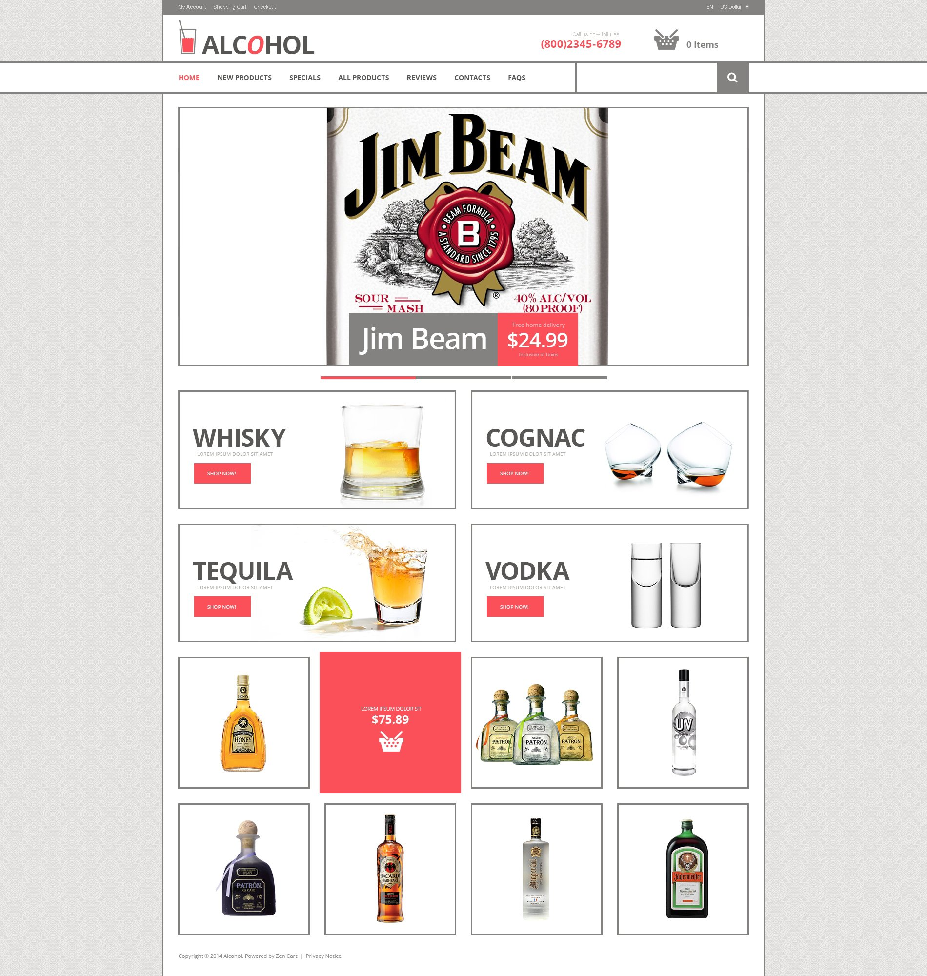 Food & Drink ZenCart Template - screenshot