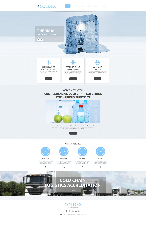 Frozen Food Moto CMS HTML Template