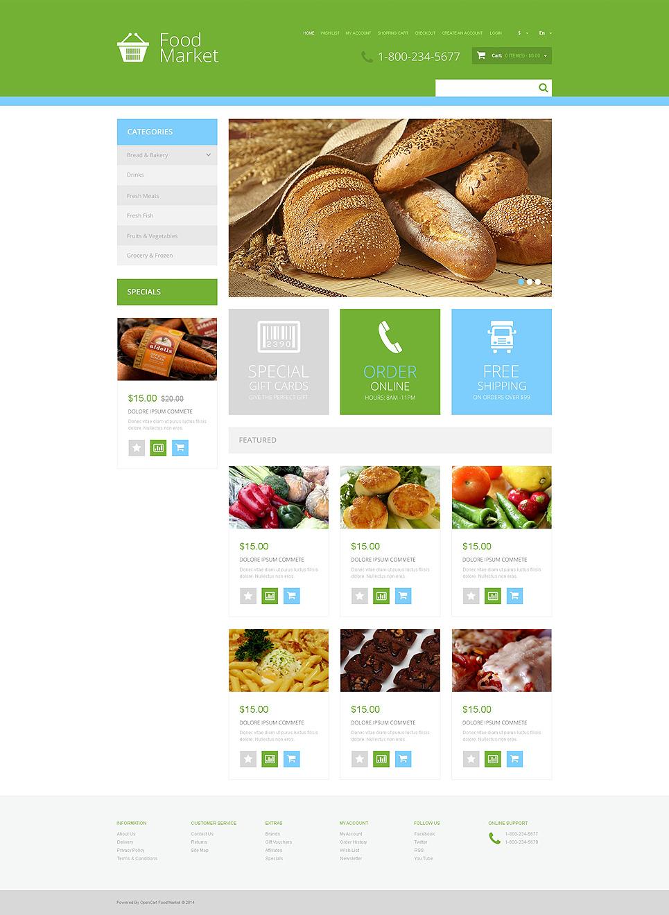 Grocery Store Responsive OpenCart Template New Screenshots BIG