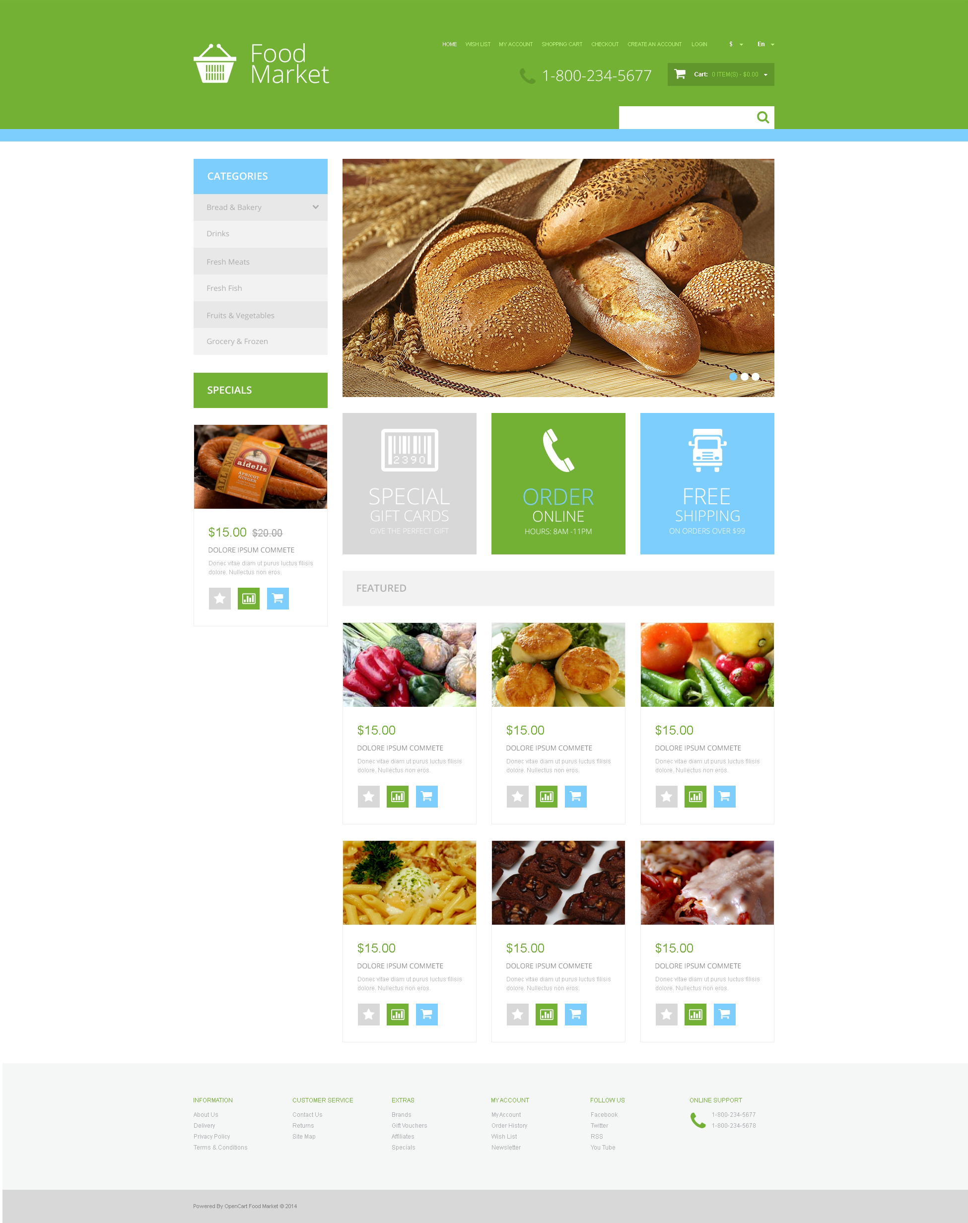 opencart bookstore template - grocery store responsive opencart template 48009