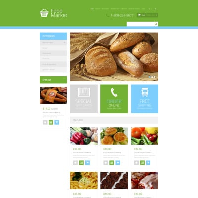 Grocery store opencart templates for Opencart bookstore template
