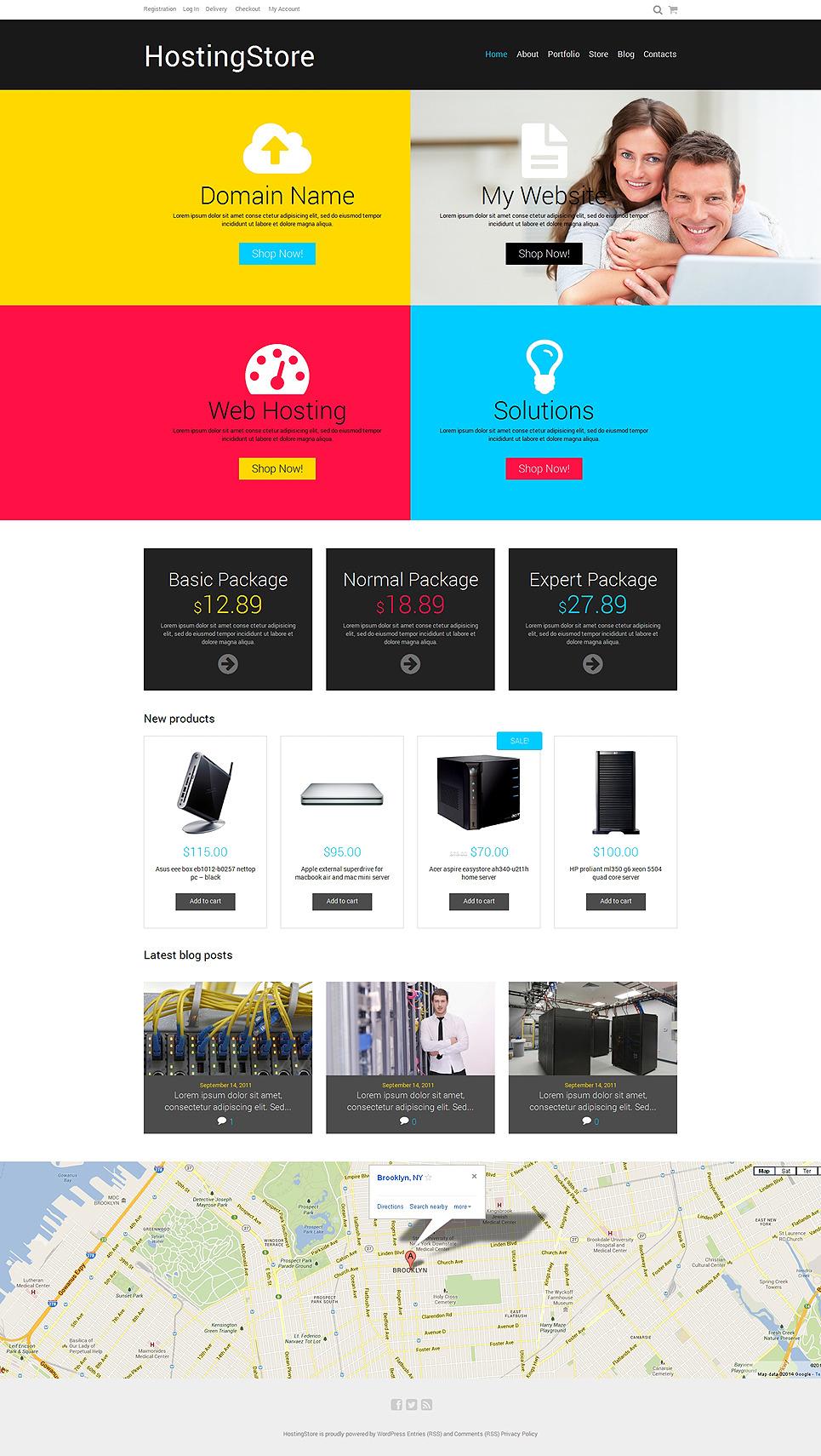 Hosting Responsive WooCommerce Theme New Screenshots BIG