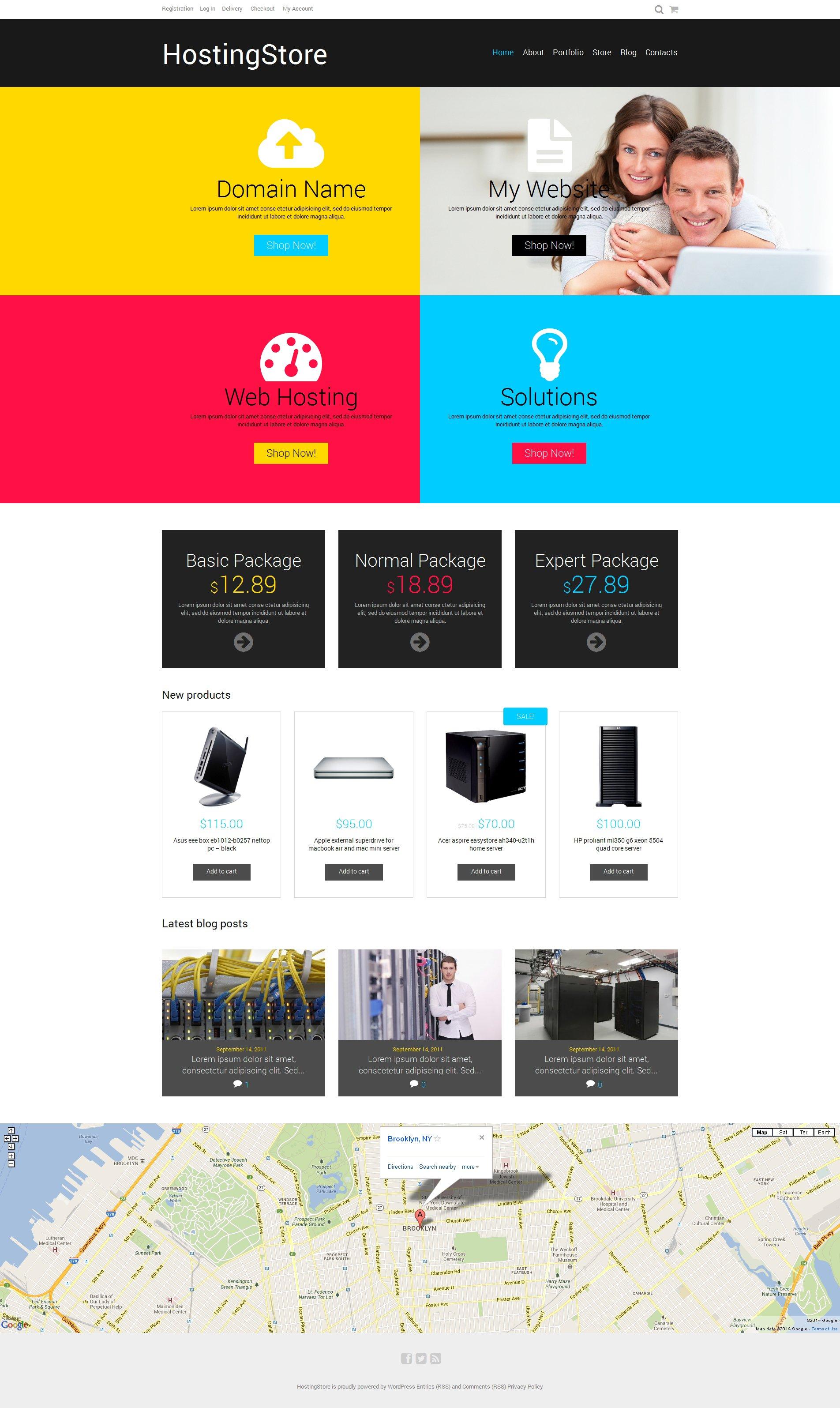 Hosting Responsive WooCommerce Theme - screenshot