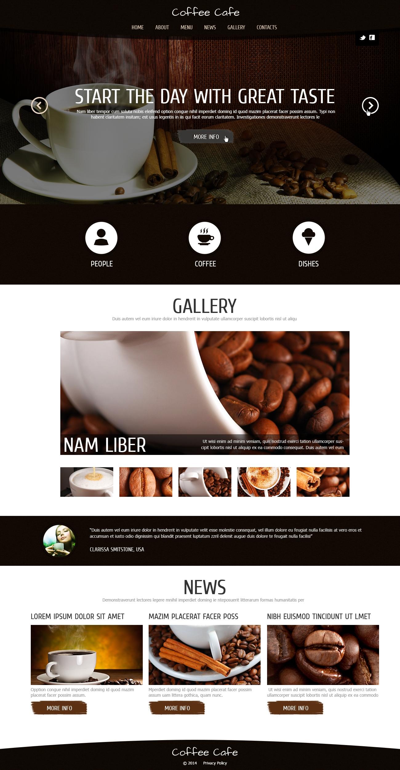 "Joomla Vorlage namens ""Kaffeegenuss"" #48085"