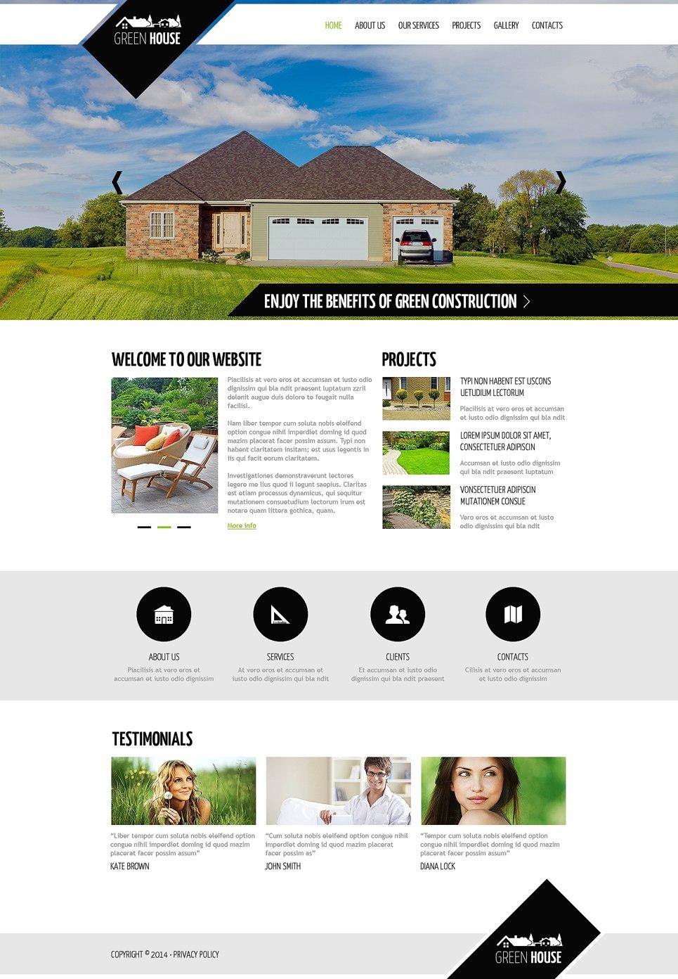 Landscape Design Responsive Website Template #48034