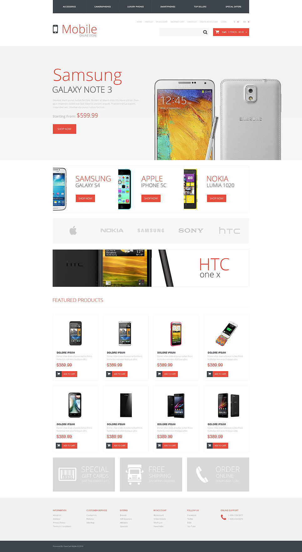 Mobile Store Responsive OpenCart Template New Screenshots BIG