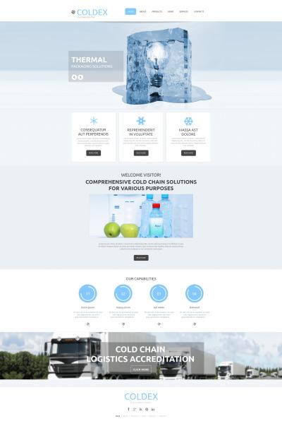 Frozen Food Tema Moto CMS HTML