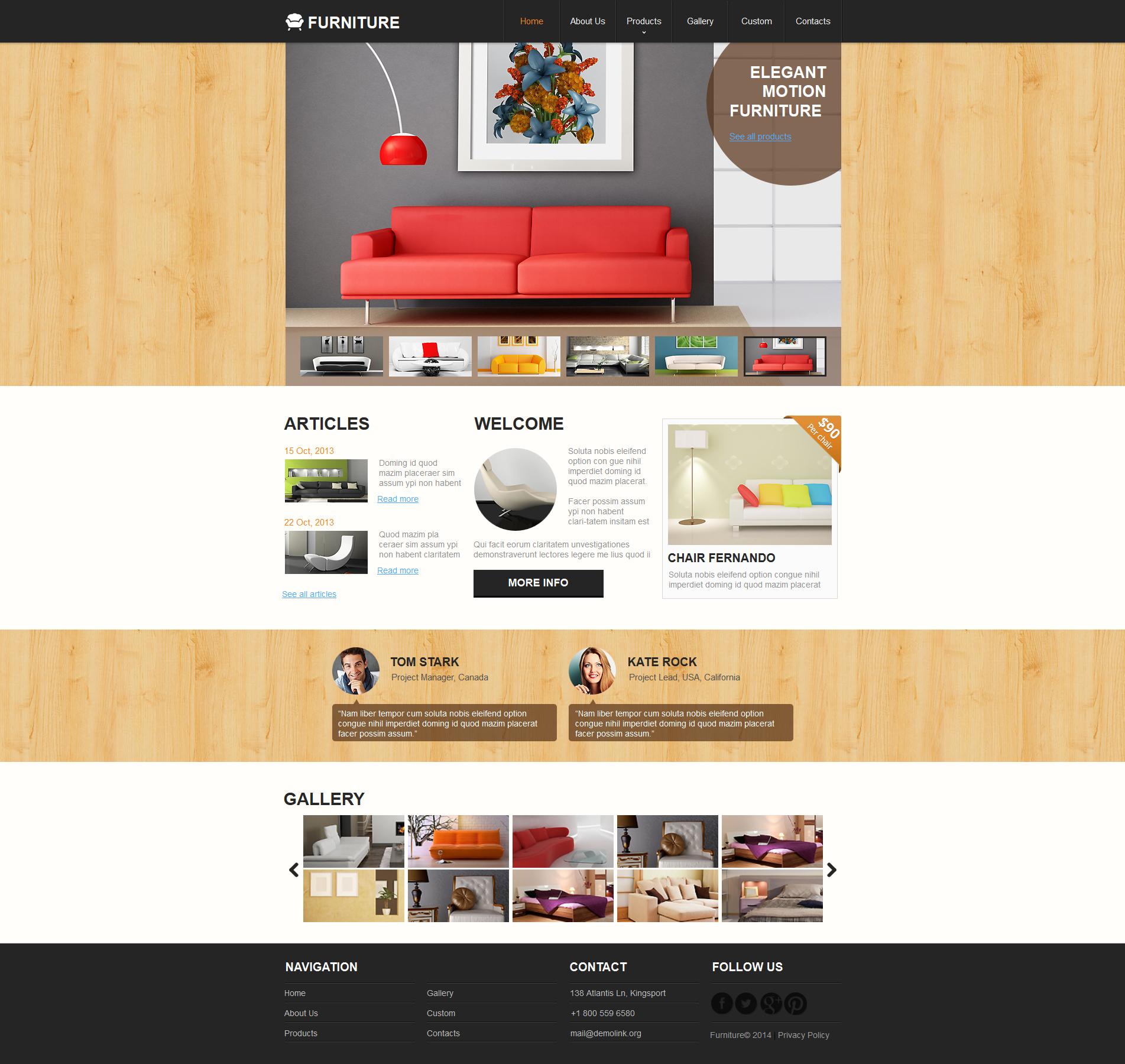 Moto CMS HTML Vorlage für Möbel #48064