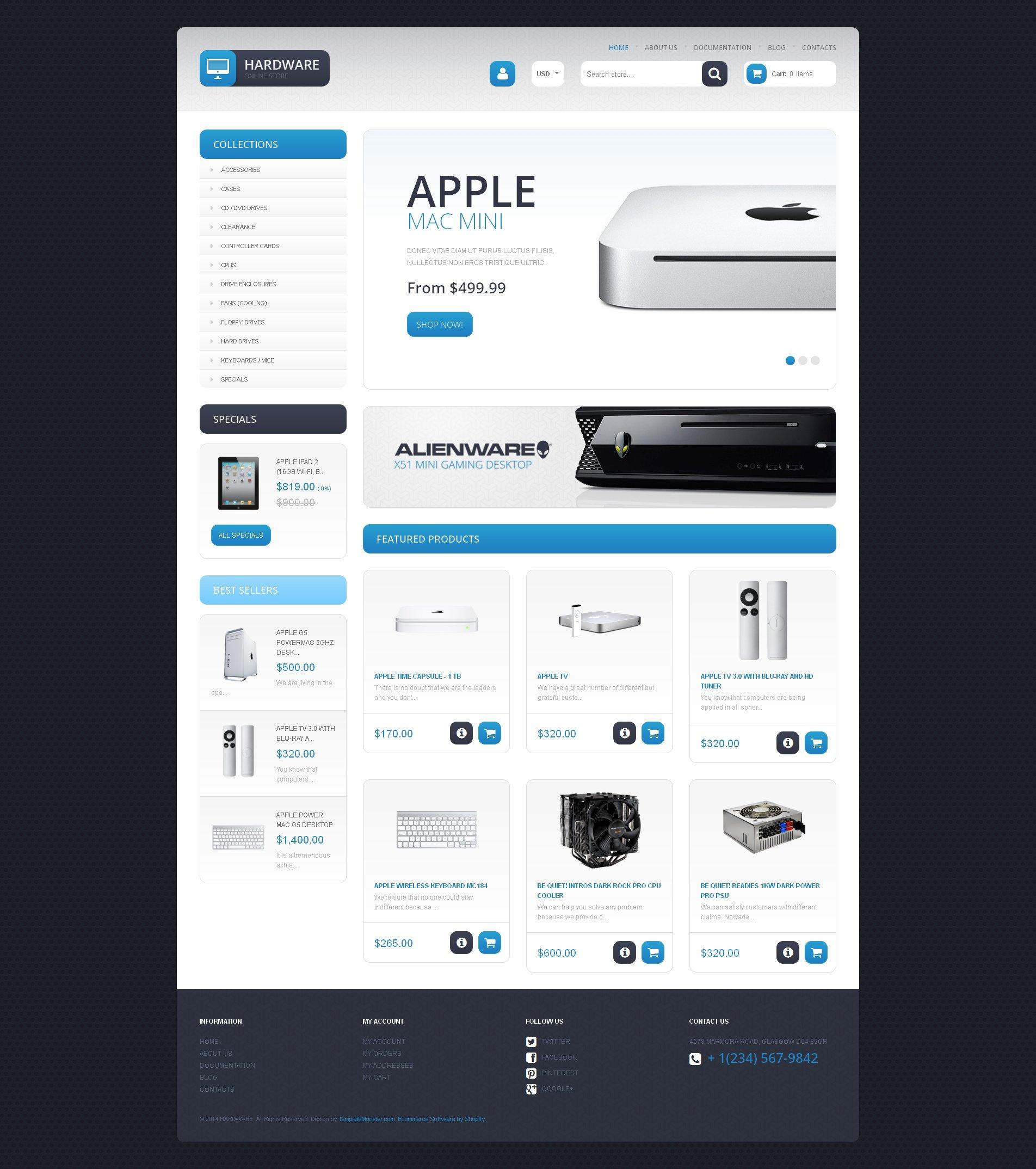 Responsive Bilgisayar Mağazası Shopify #48026