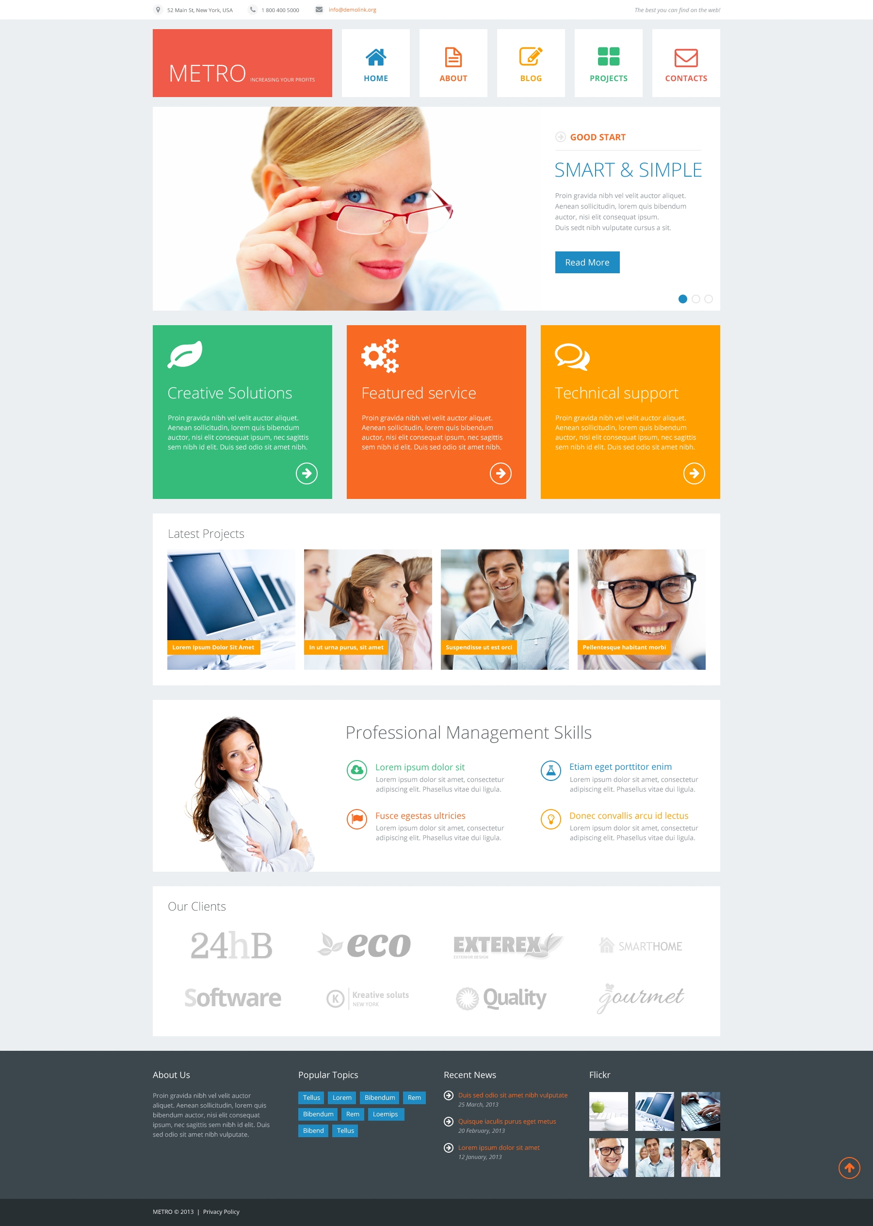 Responsive Joomla Template over Financieel adviseur №48080 - screenshot