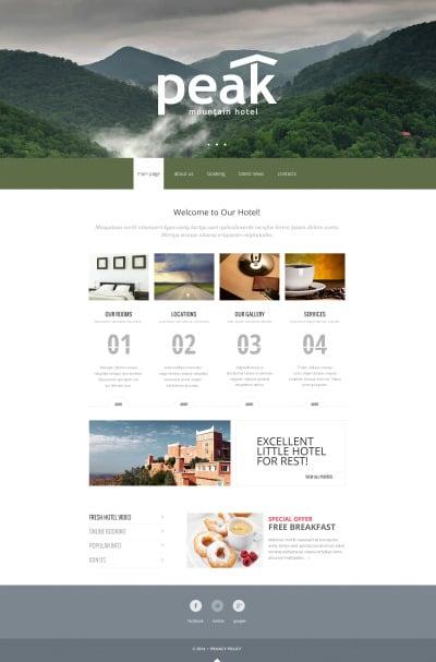 Hotels Responsive Web Sitesi Şablonu