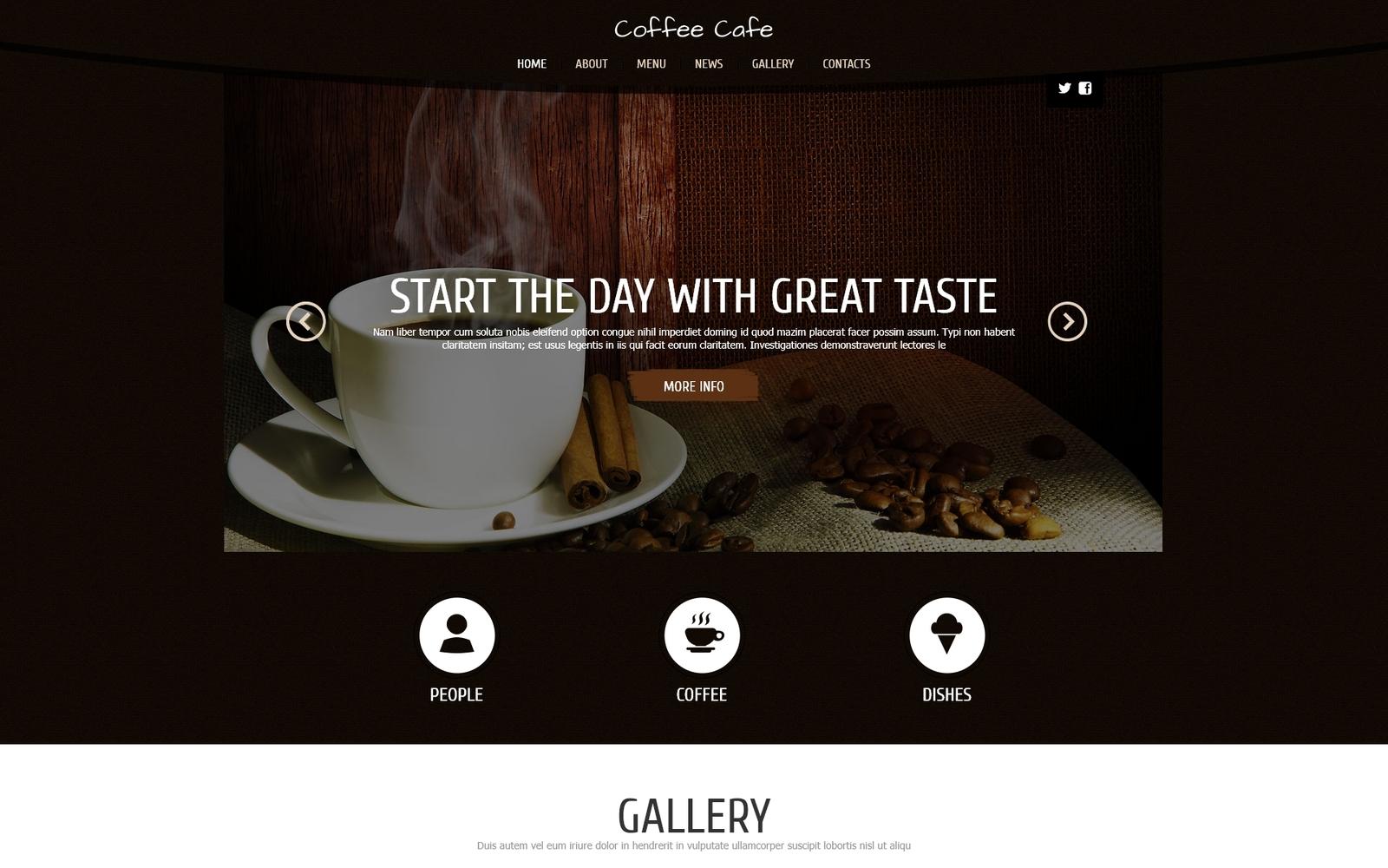 Responsywny szablon Joomla Coffee for Freshness #48085