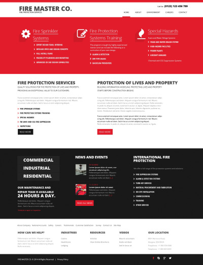 Responsywny szablon strony www #48099 na temat: straż pożarna