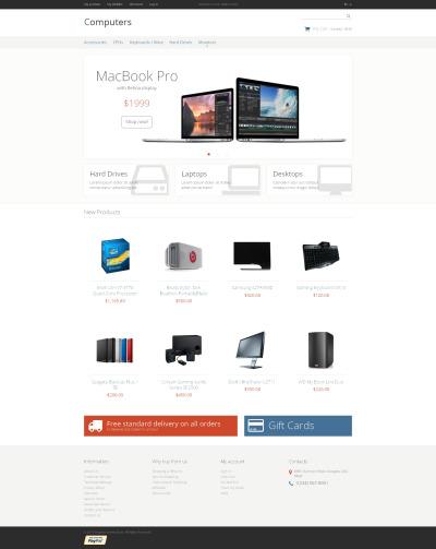 Computer Store Responsive Magento Motiv